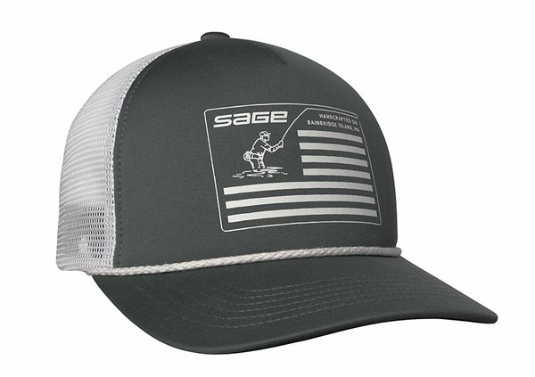 Sage Flag Foam Trucker